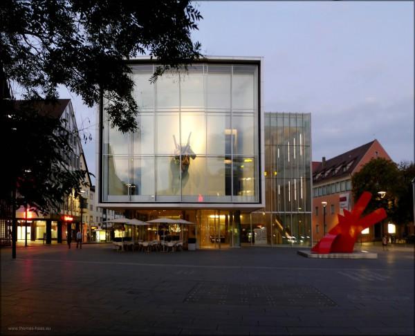 Museum Weishaupt, Geschwister-Scholl-Platz, Neue Mitte, Ulm, 09.2014