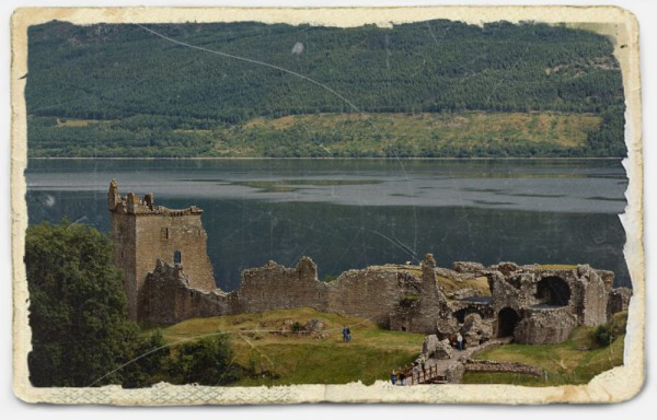 Urquhart Castle am Loch Ness, Dia 1982