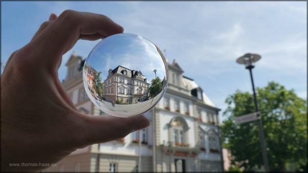 Kugelbild - Das Rathaus fertig bearbeitet, August 2014