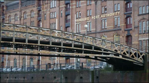 Der Backsteinbau der Hafenbehörde im Dezember 2014