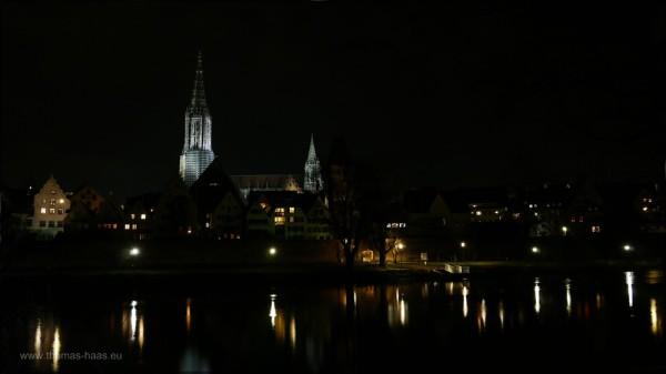Münsterblick aus Neu-Ulm, 24.12.2014