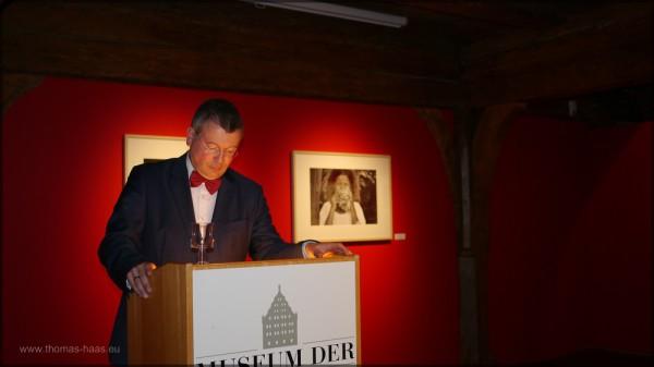 Dr. Fadani bei der Ausstellungseröffnung am 13.01.2015