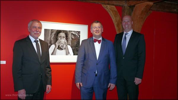 Die offiziellen Herren: Michael Wippler, Dr. Andrea Fadani, Bernd Kütscher