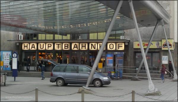 Eingangsbereich Hauptbahnhof Ulm