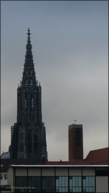 Blick über die Baustelle: Das Münster