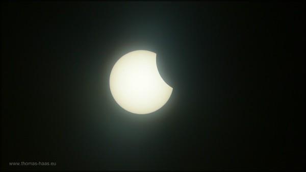 Beginnende Sonnenfinsternis,  20.03.2015