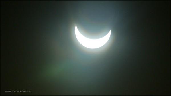Der Höhepunkt der partiellen Sonnenfinsternis am 20.03.2015
