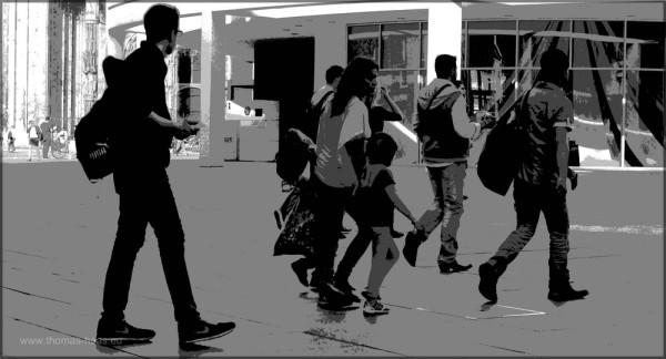 Bearbeitung in GIMP, Fotografik, Menschen in Ulm
