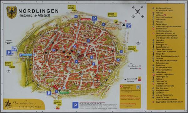 Orientierungsplan der Altstadt von Nördlingen
