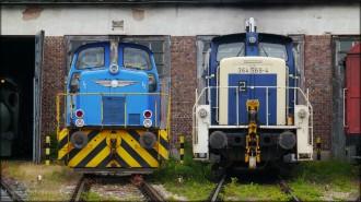 Rangierloks im Bayerischen Eisenbahn-Museum, 2014