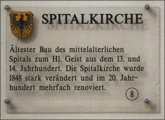 Erklärungstafel zur Spitalkirche Nördlingen