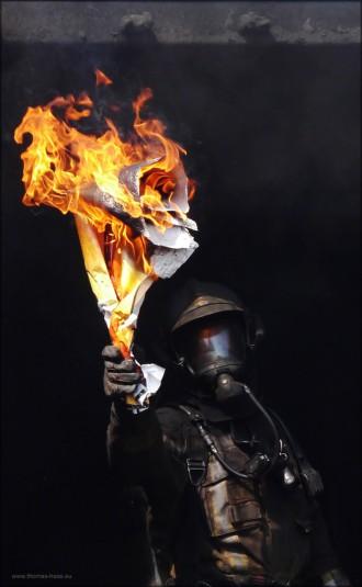 """Feuerwehrmann im """"Fire-Flash"""", Juni 2015"""