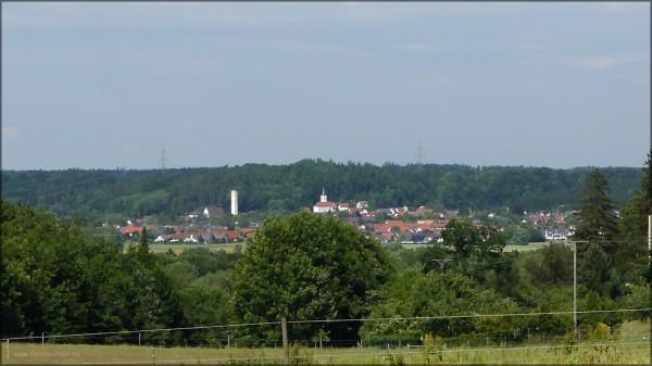 Bellenberg, von Regglisweiler aus fotografiert, Juni 2015