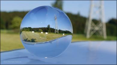 Kugelbild mit Siloballen, 2015