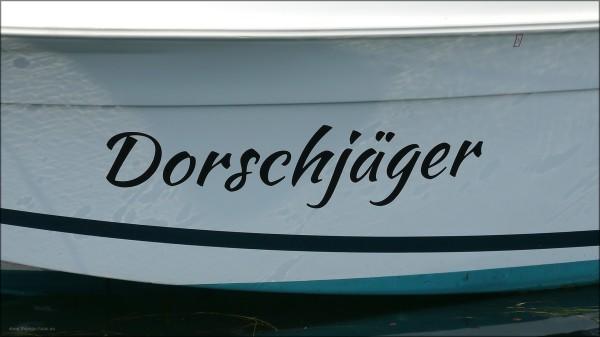 """Der """"Dorschjäger"""" im Hafen Eckernförde, Juli 2015"""