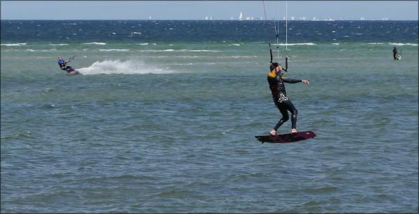 Kite-Surfer auf der Förde, Juli 2015