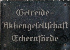 Türschild in Eckerförde: Getreide AG Eckernförde