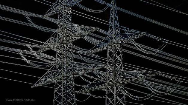 Strommasten, in GIMP bearbeitet
