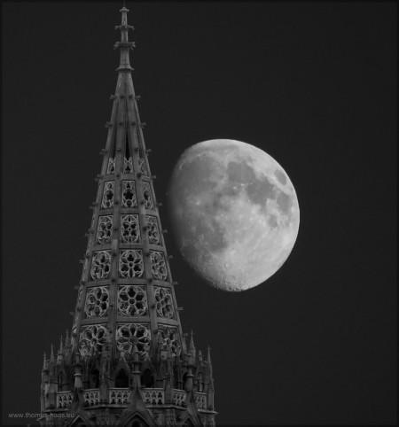 Münster und Mond, eine Bearbeitung, September 2015