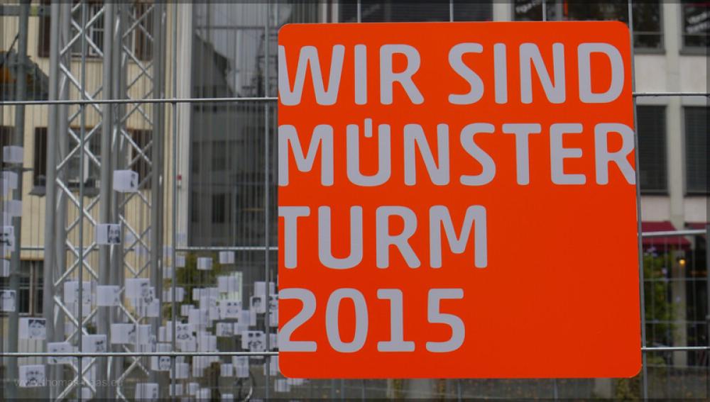 Installation auf dem  Judenhof, Oktober 2015