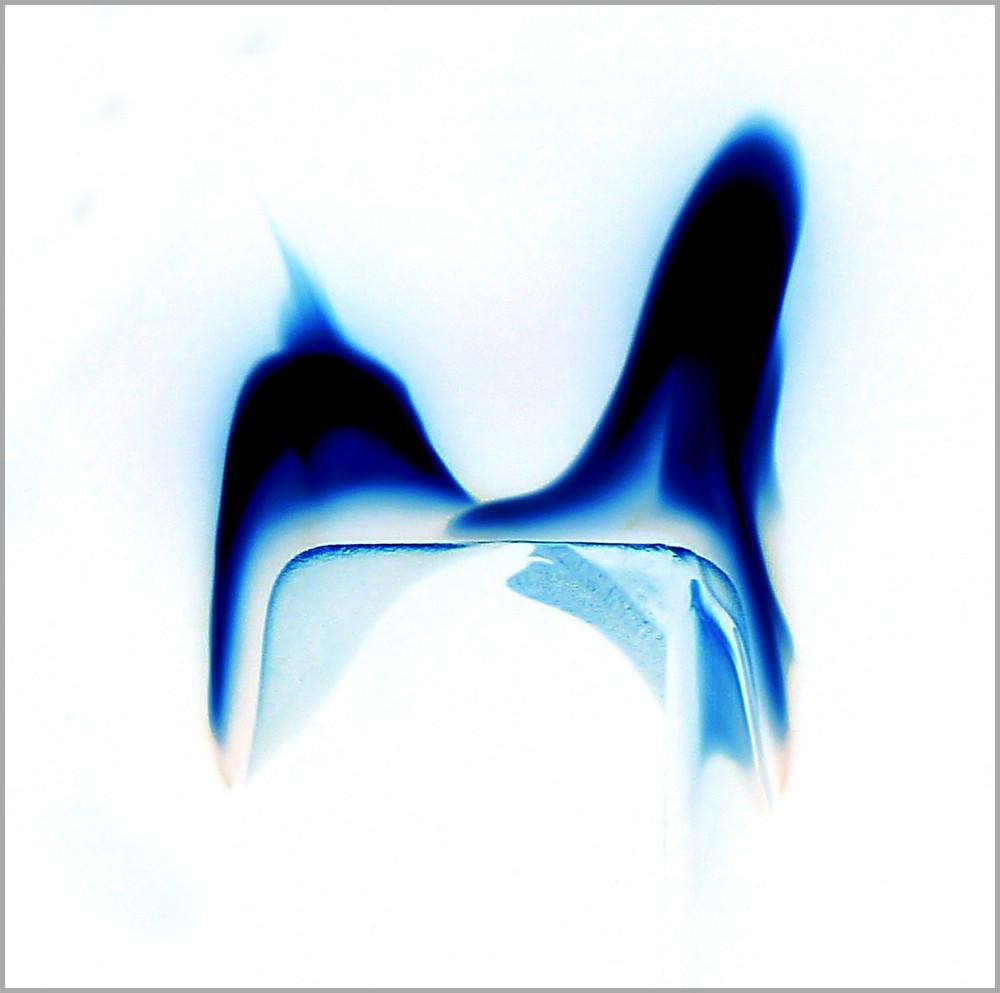 Blaue Flammen, Bildbearbeitung, GIMP, November 2015