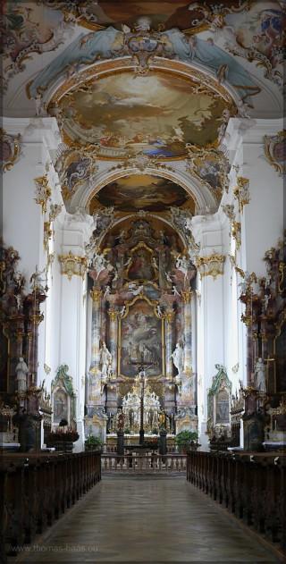 Innenaufnahme, Roggenburg, Klosterkirche, November 2015