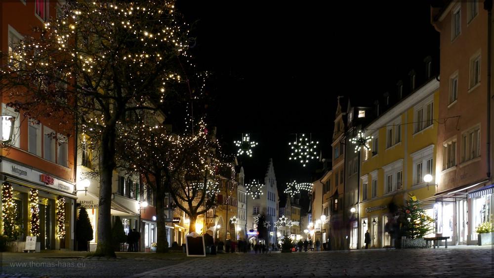 Weihnachtsbeleuchtung auf der Insel, Lindau, Dezember 2015