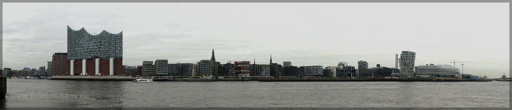 Elbphilharmonie und HafenCity, Dezember 2015