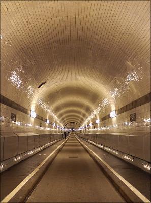 """Der """"Alte Elbtunnel"""", Tunnelblick, Dezember 2015"""