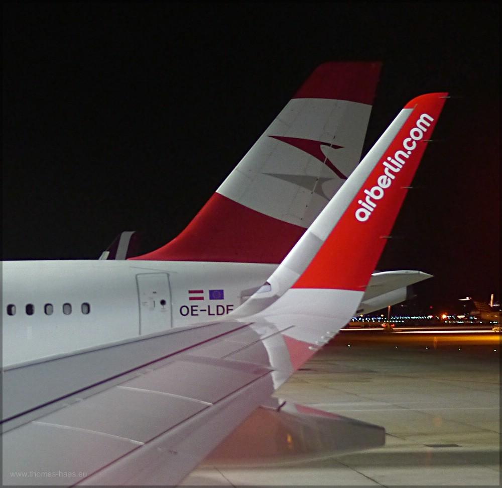 Parkposition erreicht - Airport Hamburg, Dezember 2015