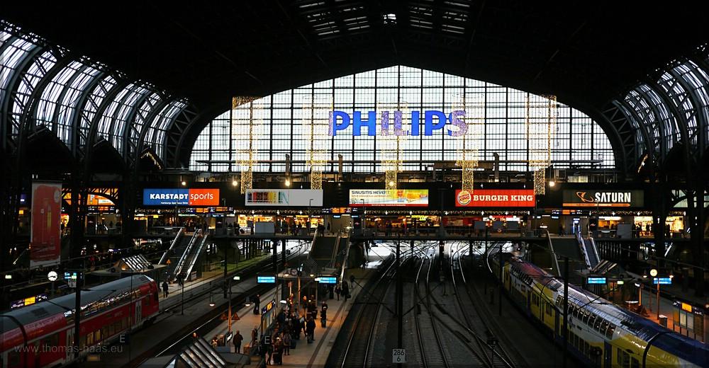 Hauptbahnhof Hamburg, Halle, Dezember 2015