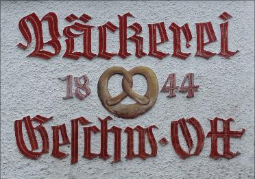 Historische Bäckereibeschriftung, Januar 2016