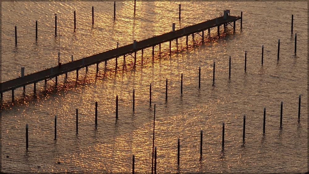 Goldene See beim Sonnenaufgang, Februar 2016