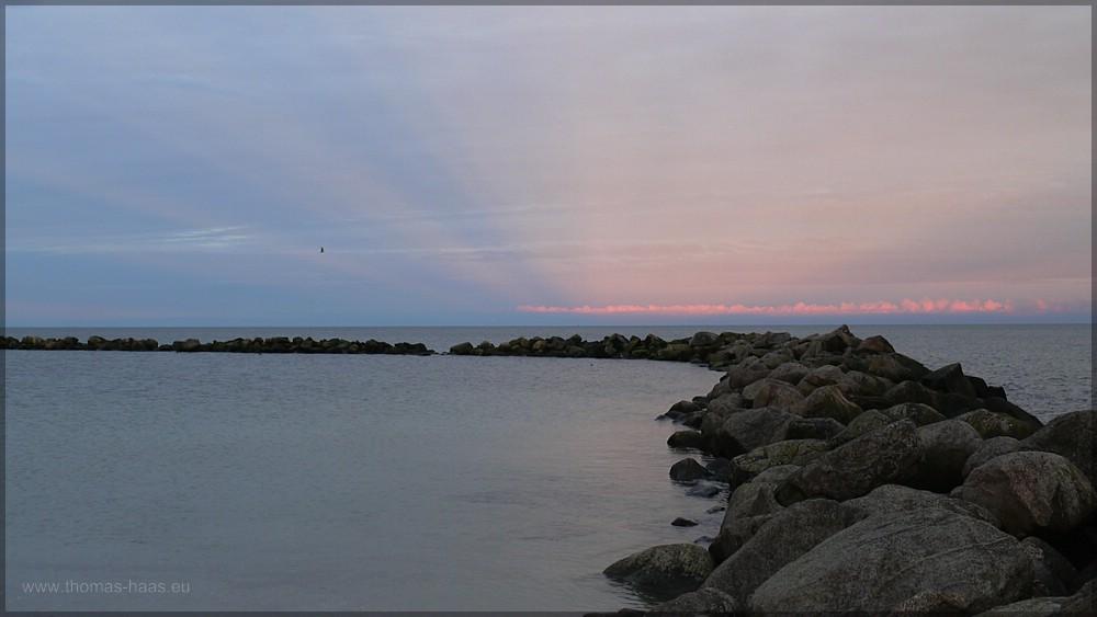 Abenstimmung, Damp. Strandbereich, Februar 2016