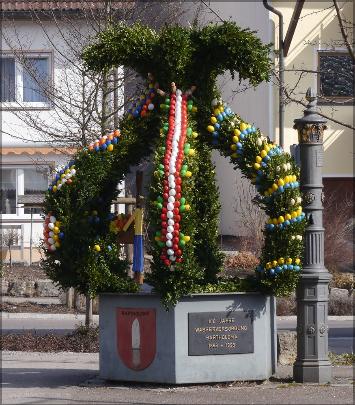 Osterbrunnen Bartholomä, Ostalbkreis, März 2016