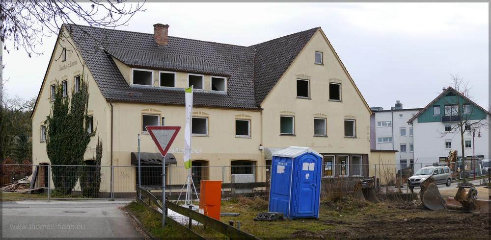 Gebäudekomples unmittelbar vor dem Abriss