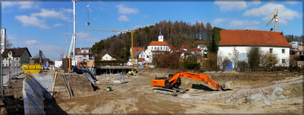 Baustelle Orstsmitte, Bellenberg, März 2016