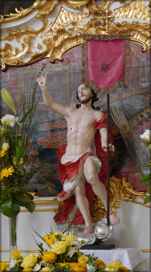 Skulptur des auferstandenen Christus, Foto 2016
