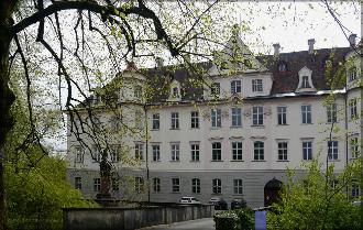 Das Bad Waldsser Schloss, Stadtseite, April 2016