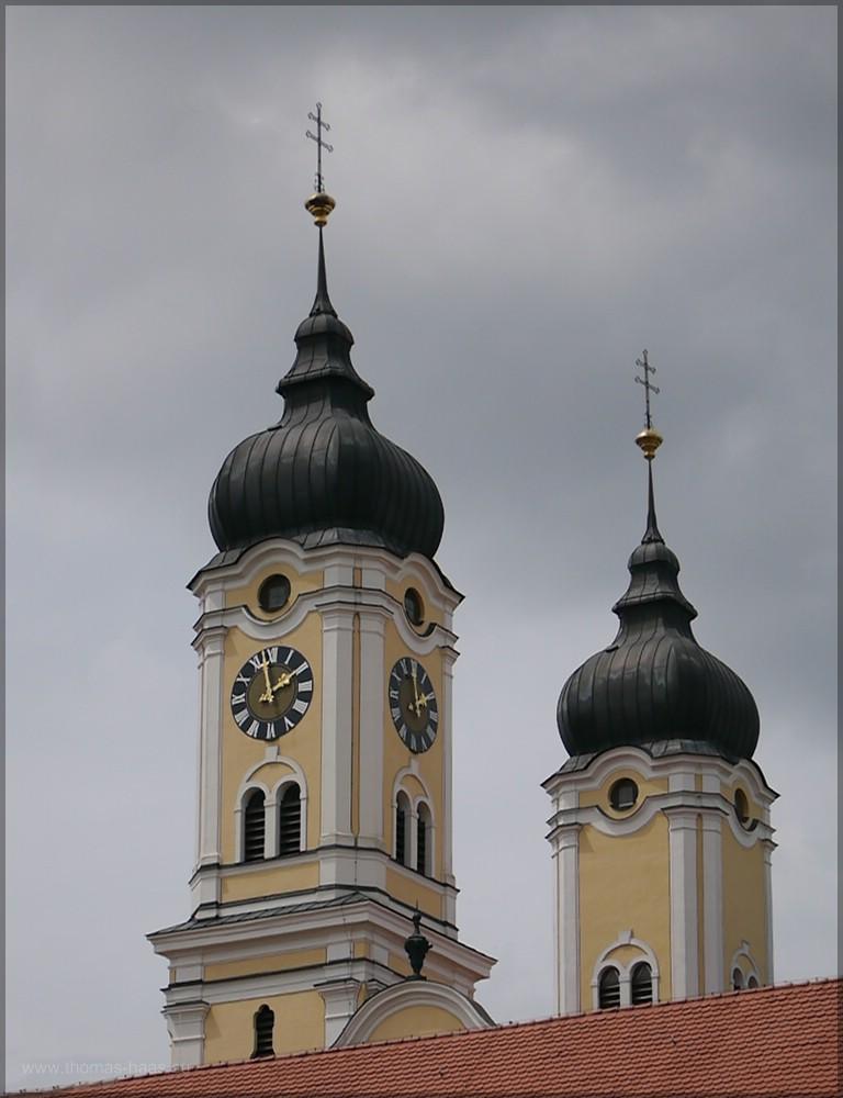 Klosterkirche roggenburg, Türme, Mai 2016