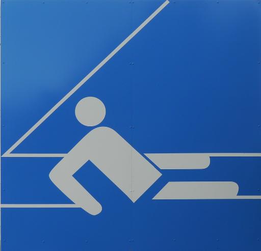 Piktogramm aus der Serie zu den Olympischen Spielen 1972