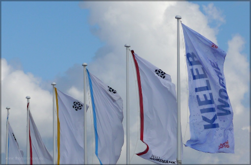 Fahnenmasten, Logo Kieler Woche 2016