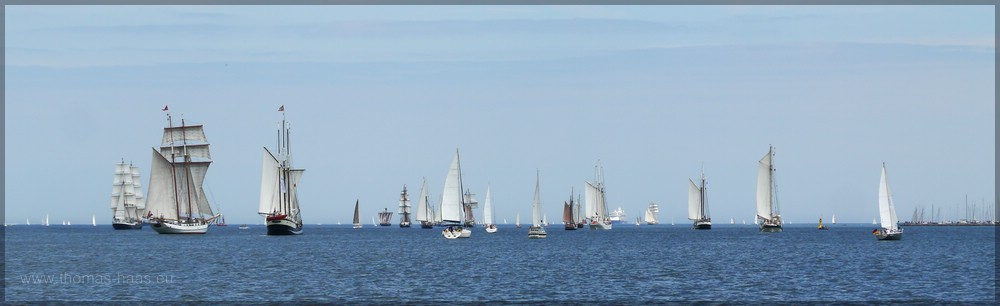 Segler-Panorama, Juni 2016, Kieler Förde
