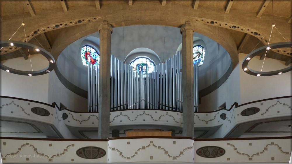Orgelempore, Juli 2016, Pauluskirche Ulm