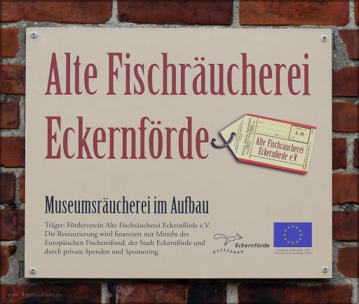 Hinweis auf die Museumsräucherei, Juni 2016