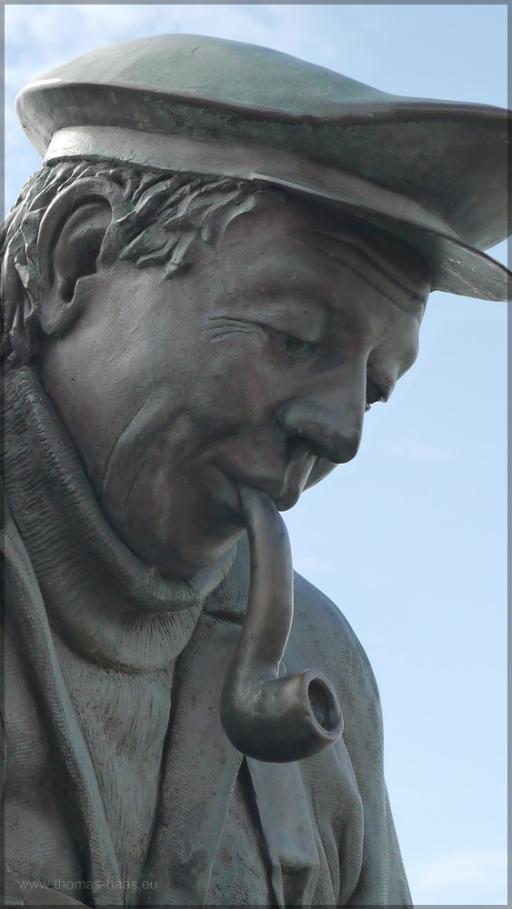 """Ausschnitt Denkmal """"Peter Aal"""", Bernd Maro, 1999"""