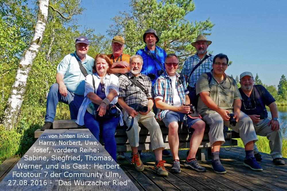 Gruppenfoto. Community und Gast