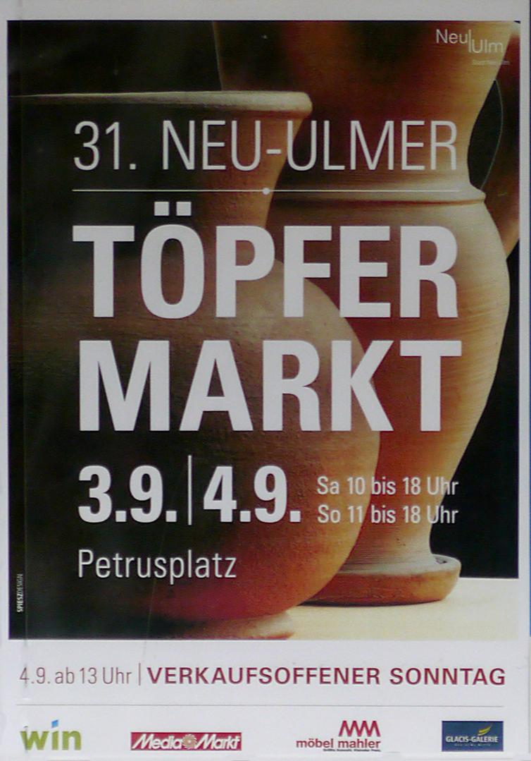 Werbeplakat Töpfermarkt 2016