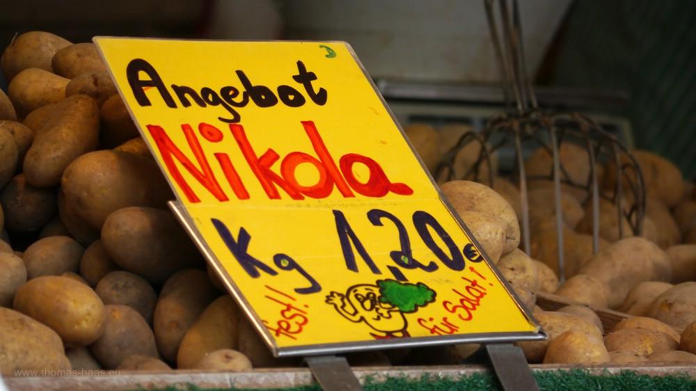 Kartoffeln auf dem Wochenmarkt, September 201