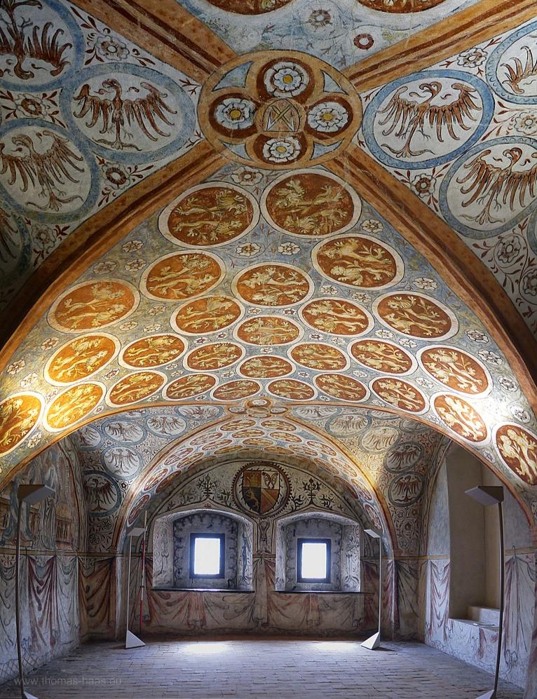 Fresken in Ulm, Minnesängersaal, 1370